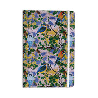 "DLKG Design ""Birds"" Blue Yellow Everything Notebook"