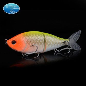ICIK7N3 Free Shipping Hard Plastic 2 Jointed Obese Joint hunter Soft Tail Multi-jointed Fishing lures Swimbait 140MM 55G