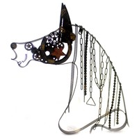 Home Rustic Metal Horse Chain Mane Home Decor