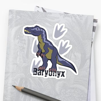 'Blue Baryonyx' Sticker by thekohakudragon