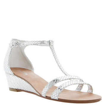 Dune London Gain Leather Wedge Sandals