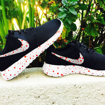 Womens Nike Roshe Run custom design blood splatter, The splatter color can be changed upon request,