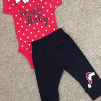Santa Baby Set - Christmas Baby Apparel - RWL Kids - Christmas