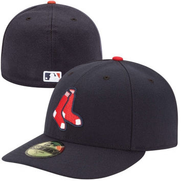 New Era Boston Red Sox Low Crown AC Alternate Logo 59FIFTY On-Field Fitted Performance Hat - Navy Blue