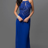 Blondie Nites Long Royal Blue Prom Dress