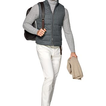 Grey Padded Vest Bw114i | Suitsupply Online Store