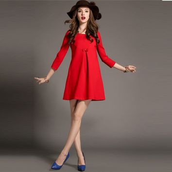 New Fashion Red Black Women Evening Party Long Dress
