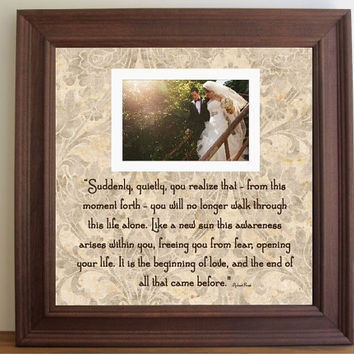 Wedding Frame, I No Longer Walk Alone Quoted Frame , Unique Wedding Gift, Wedding Vows Print, Anniversary Gift, Custom Wedding Frame, 15x15