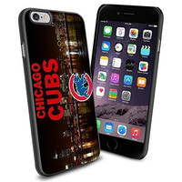 MLB Chicago Cubs Skyline Baseball, Cool iPhone 6 Smartphone Case Cover Collector iPhone TPU Rubber Case Black by kobestar
