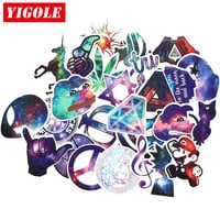 28pcs/lot Very Beautiful Starry Sky Stickers Classic Toys PVC Fashion Laptop Skateboard Suitcase Sticker Toy For Kids