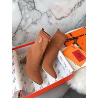 Knit Ankle Boot Shoes
