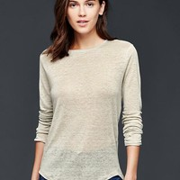 Gap Women Linen Solid Tee