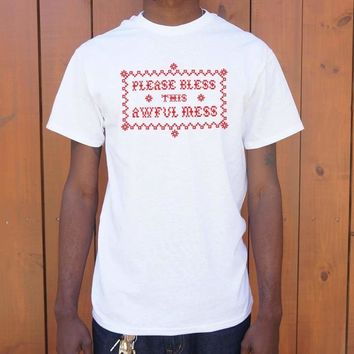Mens Please Bless This Awful Mess T-Shirt