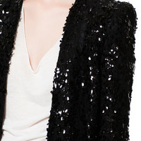 LONG SEQUINNED BLAZER - Stock clearance - Sale - Woman | ZARA United States