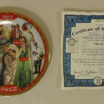 Bradford Exchange 8293A * Coca-Cola Collector Plate 5 3/4in March 1999 Porcelain  --
