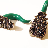 Polymer Clay Owl Gauges Stretchers Plugs 4g 2g 0g 00g 7/16 1/2