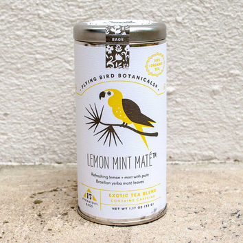 Flying Bird Botanicals Gift Tea Lemon Mint Maté