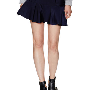 Neoprene Asymmetrical Ruffle Skirt