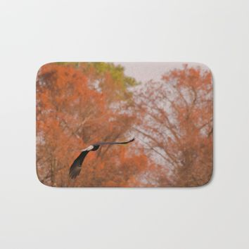 Fall Eagle Bath Mat by Scott Hervieux