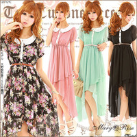 Rakuten: [a beautiful leg charms you in a trendy silhouette ♪ tail cut chiffon one piece  ] P]It has been had ◆- Shopping Japanese products from Japan