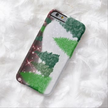 Trees on a Christmas Hill Barely There iPhone 6 Case