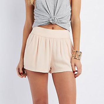 TEXTURED GAUZY SHORTS