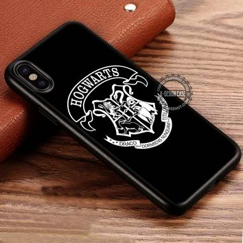 Harry Potter Hogwarts Logo School iPhone X 8 7 Plus 6s Cases Samsung Galaxy S8 Plus S7 edge NOTE 8 Covers #iphoneX #SamsungS8