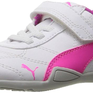 PUMA Kids' Tune Cat 3 V Inf Sneaker Puma White-knockout Pink Toddler (1-4 Years) 10 M