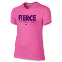 Girls' Nike Fierce Is My Middle Name T-Shirt