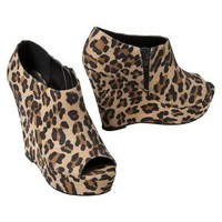 Women's Mossimo® Peg Peep-Toe Wedge - Leopard