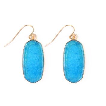 Mini Natural Stone Earring