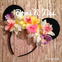 SALE! Intro price floral mouse ears headband ready to ship