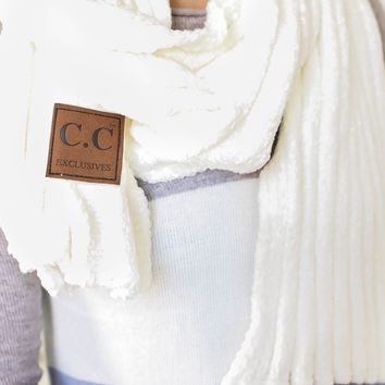 Keep It Classic Scarf - Cream