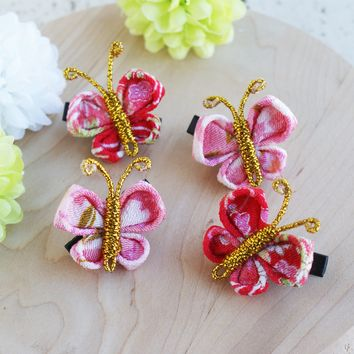 Small Butterfly Hair Clip Set