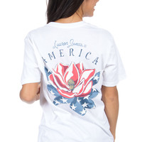 Lauren James: American Magnolia Tee {white}