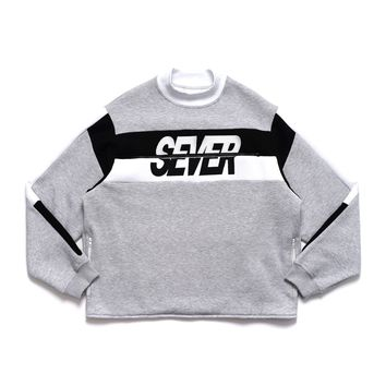 Side Zip Sever Crewneck