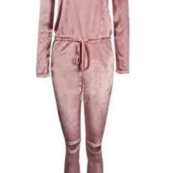 Sinfully Sexy Overalls Pink Romper Pants Jumpsuit