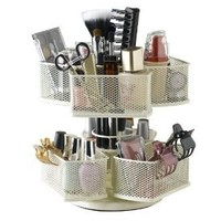 Amazon.com: Nifty Cosmetic Organizing Carousel, Cream: Beauty