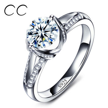 Hot Selling Engagement Rings for Women Vintage CZ Diamond Wedding Jewelry Bijoux Anillos Perfect Gift for Lover Wholsesale CC098