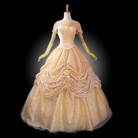 Women's Beauty and the Beast costume cosplay Halloween Costumes
