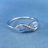 Simple Cute, Infinity Cubic, SILVER, Ring