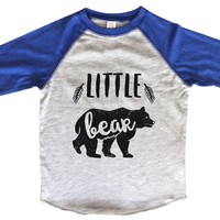Little Bear BOYS OR GIRLS BASEBALL 3/4 SLEEVE RAGLAN - VERY SOFT TRENDY SHIRT B974