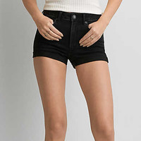 AEO Denim X4 Hi-Rise Shortie, Bold Black