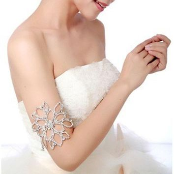 PEAPIX3 Bridal Jewelry  Colour bride rhinestone hair accessory accessories arm ring Shoulder chain = 1929914820