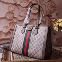 GUCCI WOMEN'S GG SUPREME CANVAS HANDBAG SHOULDER BAG