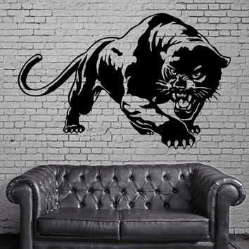 Panther Ready for Hunt Jungle Animal Decor Wall Mural Vinyl Art Sticker (M377)