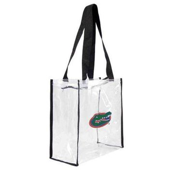 DCCKG8Q NCAA Florida Gators Little Earth Clear Square Tote Bag