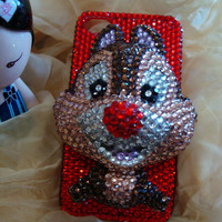Charms Colorized Rhinestones Lovely Little Pet Animal Fox Bling Handmade Phone Case For Htc Desire HD A9191 / AT&T Htc Inspire 4G  G10