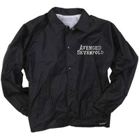 Avenged Sevenfold Men's  AVS Death Bat Mens Coach Jacket Jacket Black