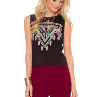 Lana Elephant Top - Black